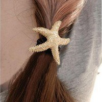 cute sea star Hair Band Hair Ring