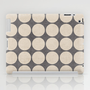 ecru and gray dots iPad Case by her art