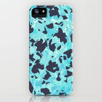 Camouflage #5 - Blue iPhone & iPod Case by Ornaart