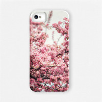 Pink Phone Case, iPhone 4 Case, iPhone 4s Case, iPhone 5 Case, Samsung Galaxy Case, Blossoms, Pink, Girly, Pretty Pink Cell Case.