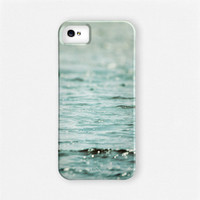 Beach iPhone 4 Case, Ocean iPhone 4s Case, iPhone 5 Cases, Blue, Aqua, Teal, Flowing Waves, Water, Sea, Samsung Galaxy Case.