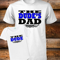 Dad and Son Shirts The Dude Shirt The Dudes Dad T-Shirt Fathers Day Gift S M L XL