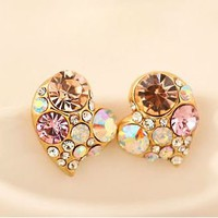 Heart to Heart Colorful Rhinestone Fashion Earrings | LilyFair Jewelry