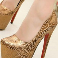 Ladies HighHeel Platform Evening Party Shoes