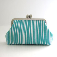 Frame Card Case- blue stripe