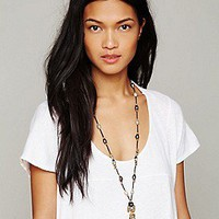 Turchin  Diamond Ilaid Buddha Necklace at Free People Clothing Boutique