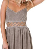 BLACK SHEEP ELENA CUT OUT MINI DRESS | Swell.com
