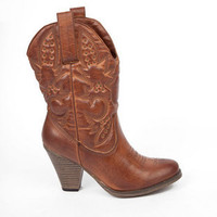 MIA Girl Larue Western Boots in Luggage $46