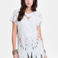 Butterfly Embroidered Tunic By Jen&#x27;s Pirate Booty - $128.00 : ThreadSence, Women&#x27;s Indie &amp; Bohemian Clothing, Dresses, &amp; Accessories