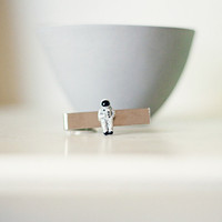 Astronaut Tie Clip for Adult or Child by butteredtoast on Etsy