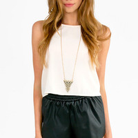 Leather Biker Shorts $22