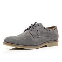 Grey suede lace up brogues