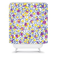 DENY Designs Home Accessories | Amy Sia Polka Dot Blue Shower Curtain