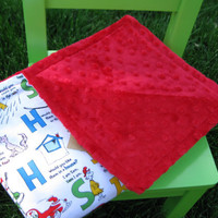 Minky Baby Blanket, Alphabet Print, Dr. Seuss Blanket, Gender Neutral Blanket, Stroller Blanket