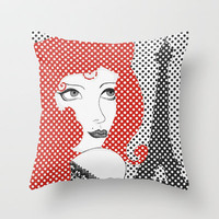 Paris ReadHead Throw Pillow by Belle13
