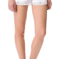 Club Monaco Emma Crochet Shorts | SHOPBOP
