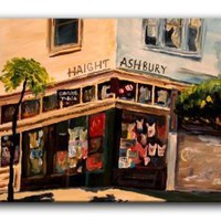 Amazon.com: Dianoche Designs Canvas Art FREE SHIPPING - Haight Ashbury San Francisco: Arts, Crafts &amp; Sewing