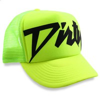 Neon Yellow on Neon with Black Dirty Trucker Hat