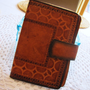 vintage mexican inspired leather wallet, passport holder, Galaxy Note case. southwestern wallet. aztec wallet