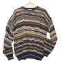 Textured Horizontal Stripe Cosby Style Tacky Ugly Sweater Men&#x27;s Size XL $25 - The Ugly Sweater Shop