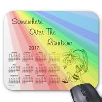 Somewhere Over The Rainbow 2017 Calendar Mouse Pad from Zazzle.com