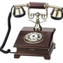 Pyle PRT55I Retro Home Telephone for iPhone/iPod/Android/Blackberry and all 3.5mm Cell Phones - Retail Packaging - Wood: Electronics