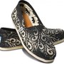 Gabriel Lacktman Hand-Bleached Swirl Stencil Black Women&#x27;s Classics
