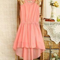 Temptation  your eyes — Nice High-Low Chiffon Dress