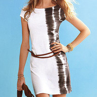 Temptation  your eyes — White zebra dress and belt