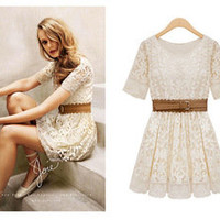 Temptation  your eyes — Lace embroidered dress