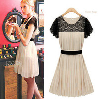 Romantic moments — Chiffon dress summer lace dress
