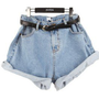 Fshion tall waist jean shorts
