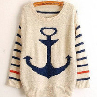 anchor mohair sweet stripes bat shirt
