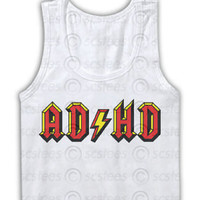 ADHD Tank Top in the style of AcDc, Spring, Summer Trends, AC DC, funny, Singlet, tanktop, 017