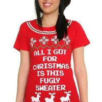Fugly Christmas Sweater Tee