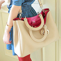 Letter Ornaments Handbag Shoulder Bag