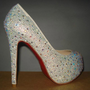 Sexy New Women&#x27;s Platform Court Rhinestone Shoes