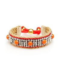 Cabachon Fabric Bracelet