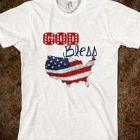 God Bless America American Flag Fourth Of July Shirt - PrecisionTees - Skreened T-shirts, Organic Shirts, Hoodies, Kids Tees, Baby One-Pieces and Tote Bags