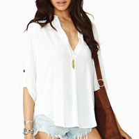 Shoreline Blouse - Ivory