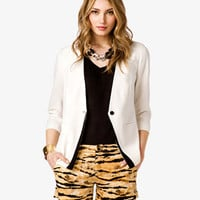 Pointed Hem Blazer | FOREVER 21 - 2023428006