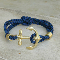 Rope and Anchor Bracelet [3950] - $17.00 : Vintage Inspired Clothing &amp; Affordable Summer Frocks, deloom | Modern. Vintage. Crafted.