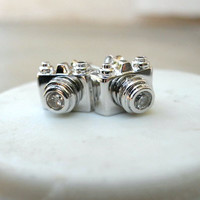 Click, Click Camera Studs [2510] - $9.00 : Vintage Inspired Clothing & Affordable Summer Frocks, deloom | Modern. Vintage. Crafted.