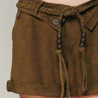 Free People Suede Slouch Short