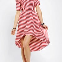 byCORPUS Knit Side Cutout High/Low Dress