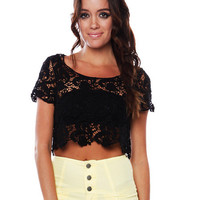 Papaya Clothing Online :: CROCHET CROP TOP