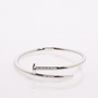 Twisted Nail Bracelet in Silver - ShopSosie.com