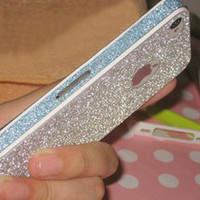 SILVER NICE SHINY RHINESTONE FASHION STICKER FOR IPHONE 4/4S/5