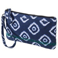 Merona Printed Canvas Wristlet - Blue