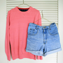 90s Tommy Hilfiger pink sweater